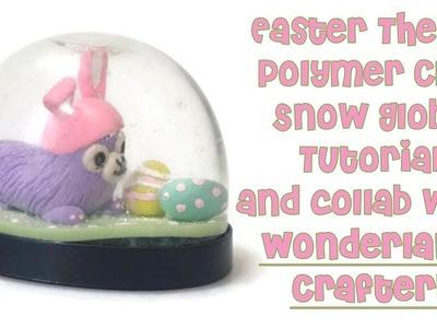 Alpaca Easter Theme Polymer Clay Snow Globe Tutorial & Collab!