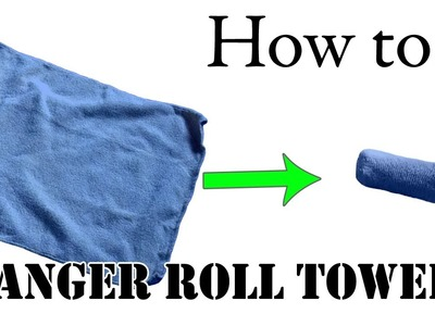Army Packing Lifehack: Unique Way to Fold Towels, Basic Training Style - Ranger Roll Tutorial