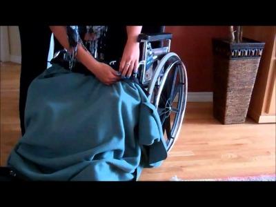 Attaching an InnovAID wheelchair blanket to a wheelchair