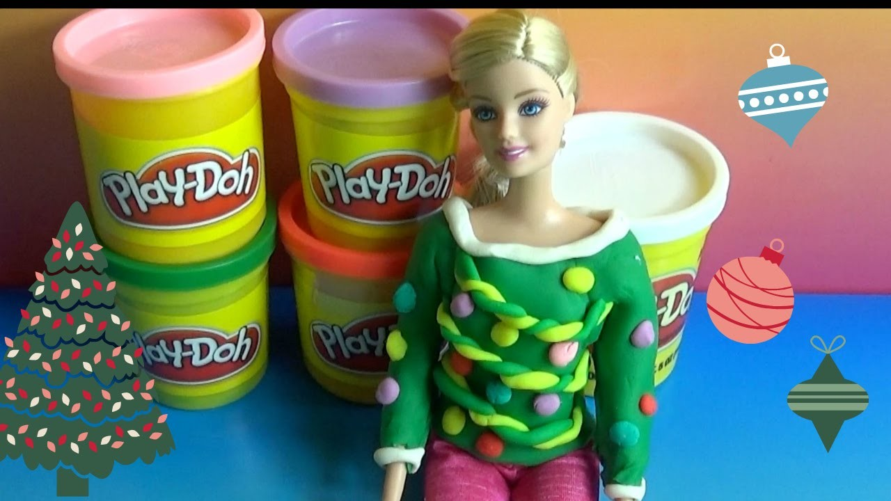 Barbie Play Doh EASY How To Christmas Sweater