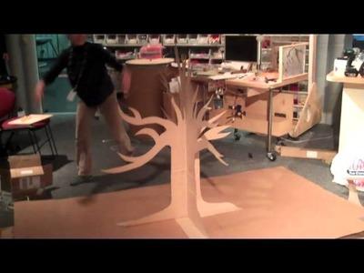 Cardboard pop-up tree