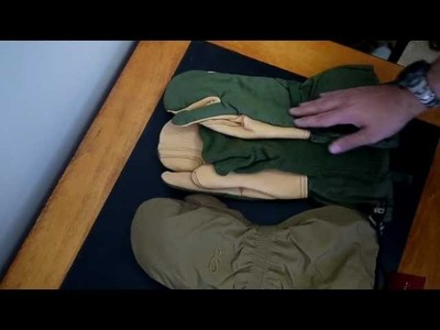Comparing the Army Trigger finger mitten with Outdoor Research FIREBRAND mitten