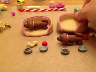 Dachshund Puppy Play Sets in Polymer Clay