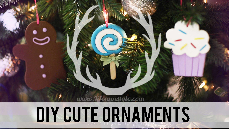 DIY Cute Polymer Clay Christmas Ornaments | ANNEORSHINE