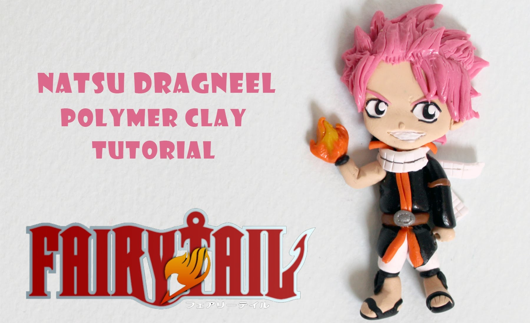 DIY Fairy Tail Natsu Dragneel Polymer Clay Tutorial