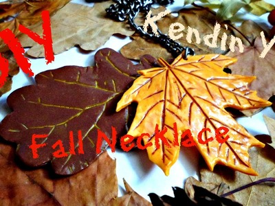 DIY Fall Necklace from polymer clay | Kendin Yap: Polimer kilden kolye (Türkçe altyazı)