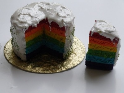 DIY: How To Make a Rainbow Cake With Polymer Clay