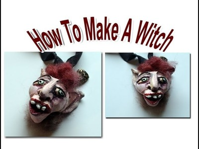 DIY: How To Make a Witch Head With Polymer Clay