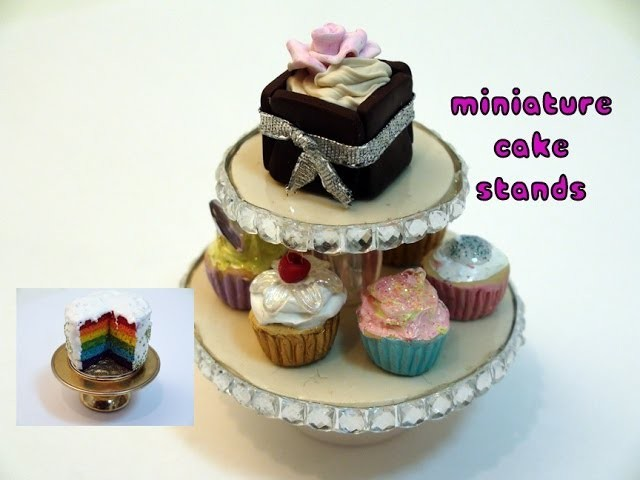 DIY: How To Make Miniature Cake Stands; With Polymer Clay and Found Objects