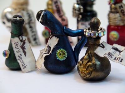 DIY: How To Make Miniature Potion Bottles With Polymer Clay