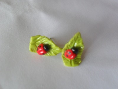 DIY: Lady Bug Earrings made with Polymer Clay (So Sweet Charms)