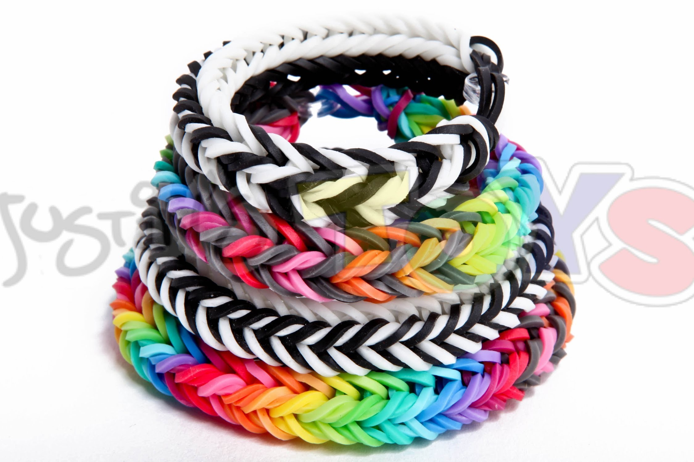 Dragon Fishtail Bracelet - EASY Rainbow Loom and Monster Tail Tutorial