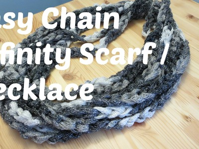 Easy Chain Infinity Scarf. Necklace