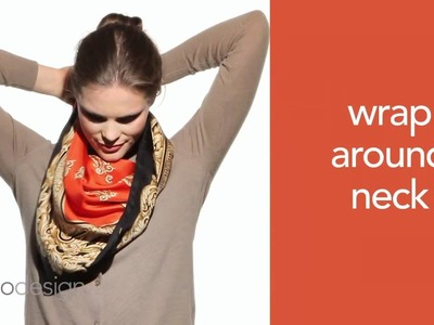 Echo Design How to Tie a Scarf #7 - The Wrap Around Cowl