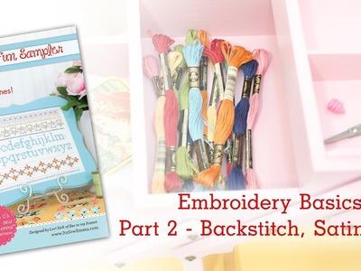 Embroidery Basics: Backstitch and Satin Stitch - Part 2 of 4 by Lori Holt