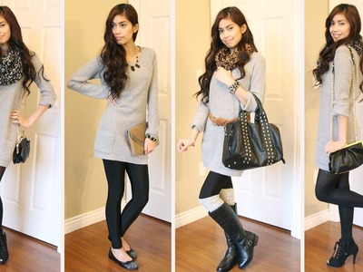 Fall Fashion Ideas: How to Style a Sweater Dress (My Sister's Closet Edition)