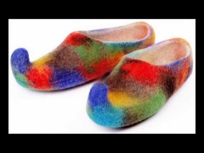 FELTED SLIPPERS for sale. Handmade Wool project.