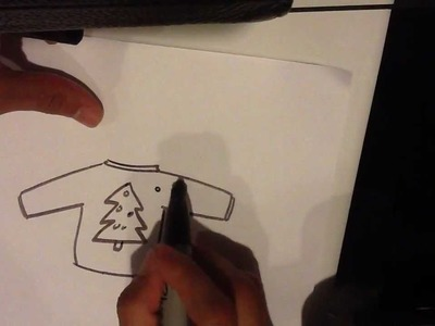 How to Draw Ugly Christmas Sweater - Christmas Drawings