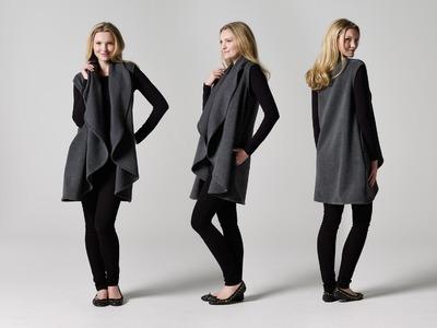 How to Make a Draped Coat | Teach Me Fashion