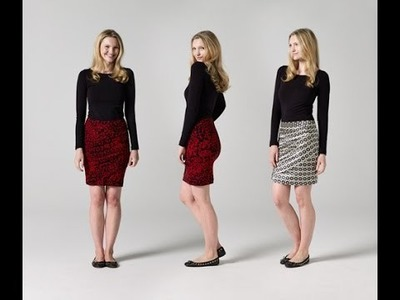 How to Make a Draped Skirt | Teach Me Fashion