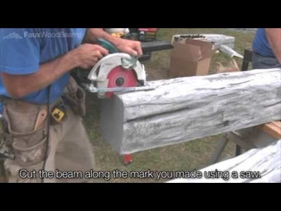 How to Make a Scarf Joint | Faux Wood Beams | 1-800-651-4223