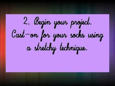 How to Make Cotton Socks