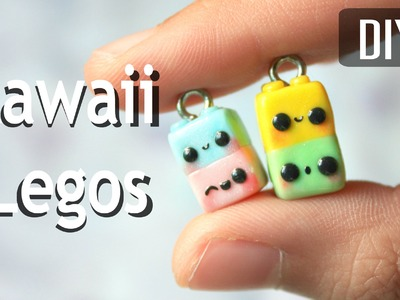 How to make Kawaii Legos - Polymer Clay Tutorial