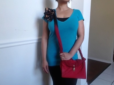 How to make no sew side sling bag with just a scarf - Request video