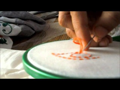 How to Stitch Kanta Work -- Hand Embroidery Tutorial