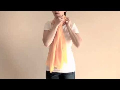 How to Tie a Scarf: Euro Knot