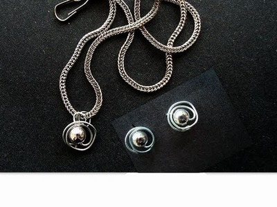 Make silver stud earrings and pendant, charms, necklaces, wire wrapped, free lesson