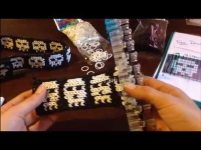(PART 2) BEGINNERS Tutorial 9 Row Skull Belt.Bracelet Halloween Rainbow Loom