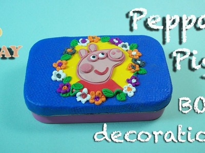 Peppa Pig box decoration. Polymer clay tutorial.