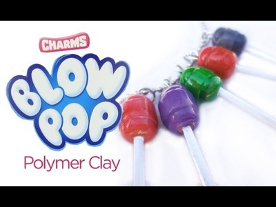 Polymer Clay Blow Pops: Miniature Food Tutorial