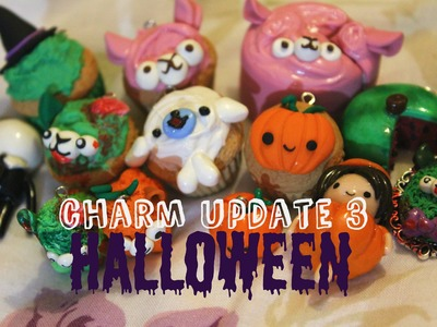 Polymer Clay Charm Update #3 - Halloween charms!