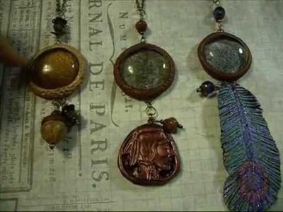 Polymer clay glass stone jewelry share