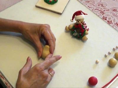 Polymer Clay - How to make a Christmas Bear