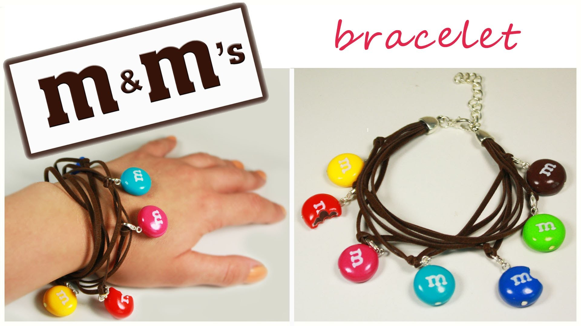 Polymer clay m&m's charm bracelet TUTORIAL