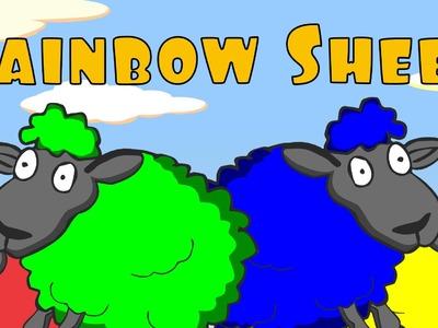 "Preschool Songs: ""Rainbow Sheep"" - Color Song (After School Cubs)"