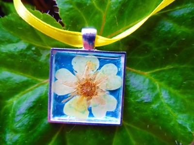 Pressed Flower Pendant Tutorial