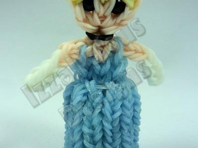 Rainbow Loom Princess Cinderella Charm.Action Figure - Detachable Skirt & Standing Doll - Gomitas