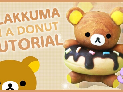 Rilakkuma in a Donut | Polymer Clay Tutorial
