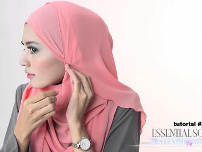 Shawlbyvsnow : Hijab Tutorial 2 with VS Essential Scarf XL
