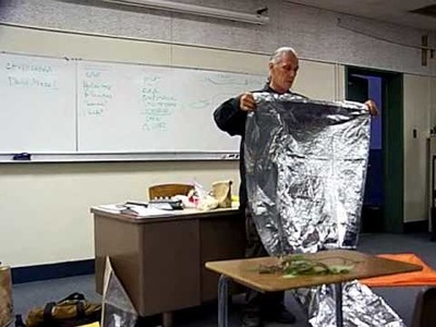 Survival Skills: Emergency Shelter using a Mylar Blanket Nyerges