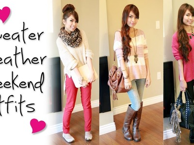Sweater Weather Weekend Outfits Fashion Lookbook