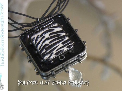 The easy way to make a zebra print pendant with polymer clay