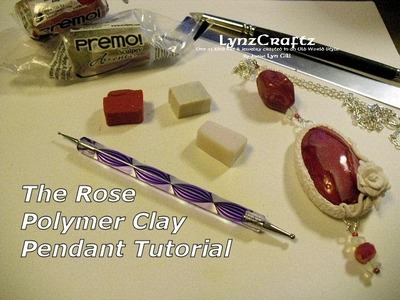 The Rose Pendant polymer clay tutorial
