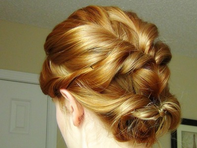 Twisted Flip Up-Do for Short Hair & Medium Length Hair!