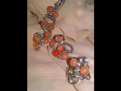 Wire Wrapped Jewelry- Polymer Clay, Natural Agate, Copper, Sterling Silver, Aluminium