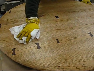 Woodworking how to repair, a kitchen table top, with a Dutchman wood joint,  by Jon Peters